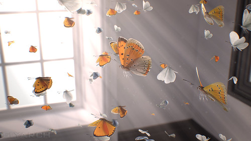 a frame from Gone? - a 3D short film about freedom, hope and beauty