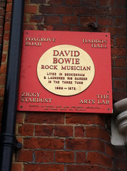 Photo of David Bowie gold plaque