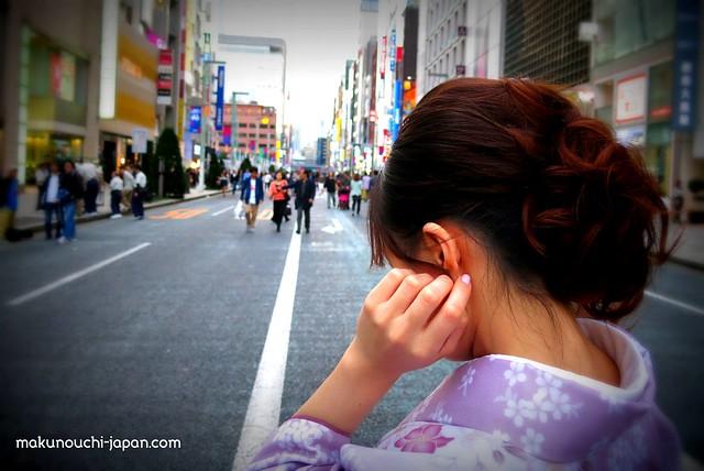 Kimono lady in Ginza.