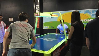 RoboGrads Halloween Party 2014--Air Hockey