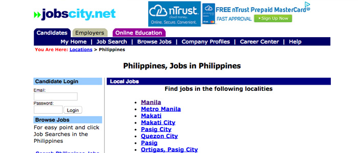 Job Search Websites in the Philippines - Job City