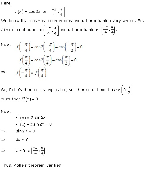 RD Sharma Class 12 Solutions Chapter 15 Mean Value Theorems Ex 15.1 Q6-iii