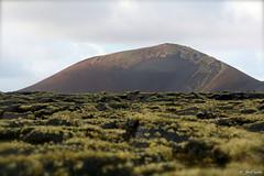 Volcán entra las coladas de Masdache. Lanzarote. Nov 2014