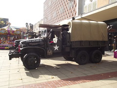 American army vehicles - Mell Square - Solihull - Poppy Appeal 2014
