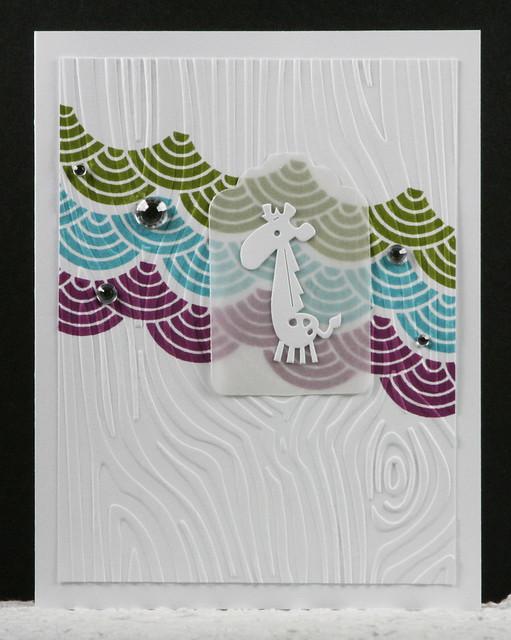 White-on-White Giraffe Baby Card   shirley shirley bo birley Blog