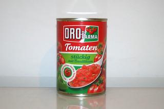 04 - Zutat Tomaten stückig / Ingredient tomatoes in pieces