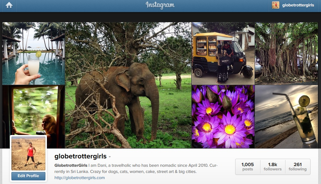 Globetrottergirls Instagram November 2014