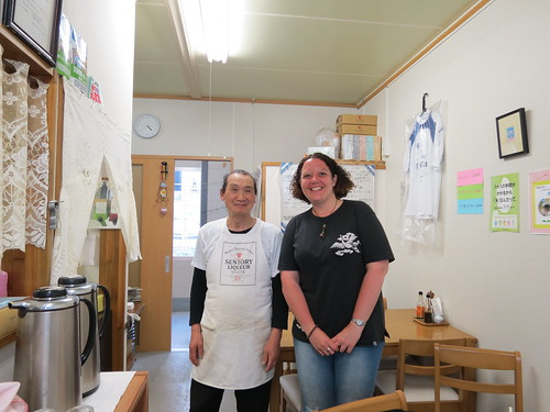 Me and the owner of a temporary restaurant in Kamaishi