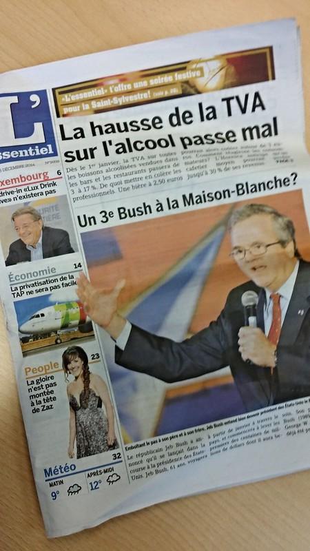 L'essentiel, a Luxembourgish newspaper