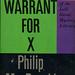 Dell Books D194 - Philip MacDonald - Warrant for X
