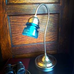Industrial Gooseneck Insulator Lamp