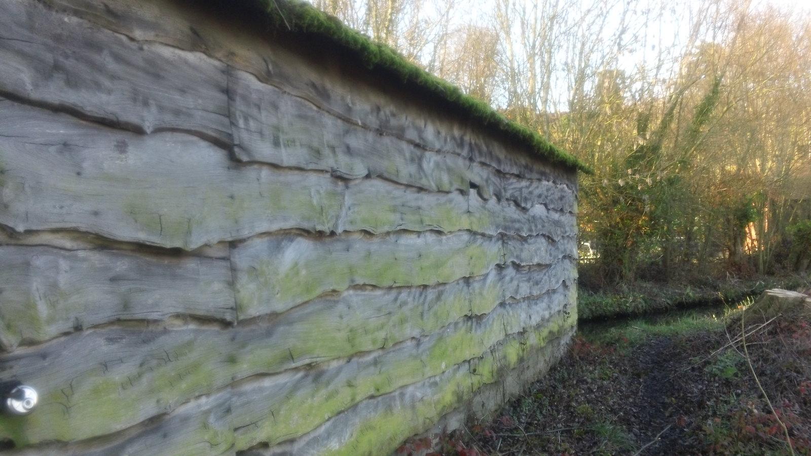 Hut wall