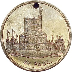 St. Paul Minnesota The Ice Palace & Winter Carnival Souvenir Token reverse