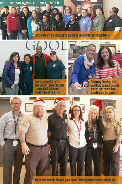 Corizon Health team members demonstrate holiday spirit across the country
