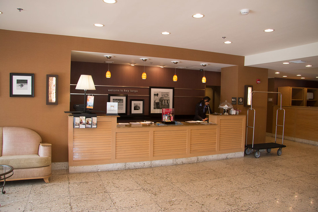Lobby at Hampton Inn Key Largo