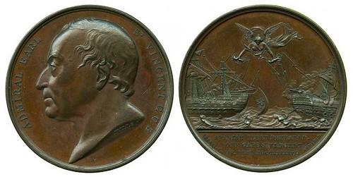 Battle of Cape St Vincent 1797 Bronze Medal by G Mills
