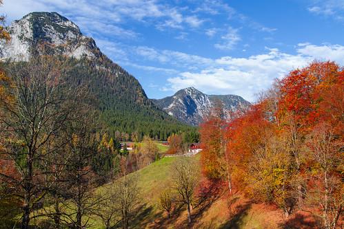 sky mountains color fall leaves germany bavaria berchtesgaden forrest berge summit 2014 rossfeld canonef24105mmf4lisusm rossfeldpanoramastrasse ramsaubeiberchtesgaden