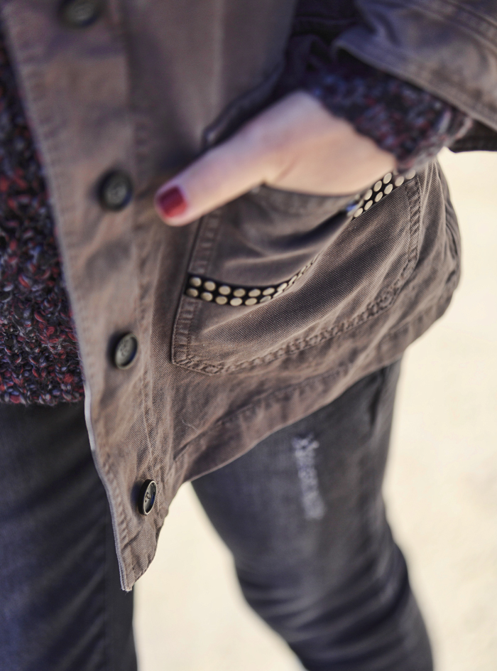 street style barbara crespo hake jacket military the corner shop slip on fashion blogger outfit blog de moda