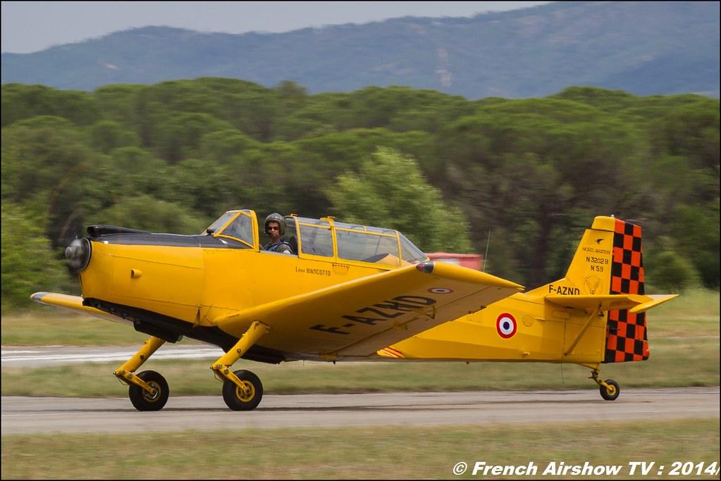 Nord 3202 Master, DOMMARTIN Bertrand, Nord-Aviation, F- AZND, Meeting des 60 ans de l'ALAT 2014 ,Cannet des Maures