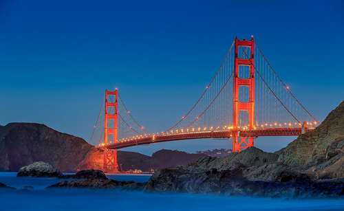 ocean sanfrancisco california usa rocks meer wasser sundown fineart himmel goldengatebridge fortpoint bluehour bakerbeach kalifornien felsen langzeitbelichtung longtimeexposure canon5dmkii robertmehlan ef70200mmusmisii