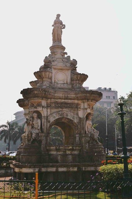 Mumbai Flora Fountain |A Brown Table