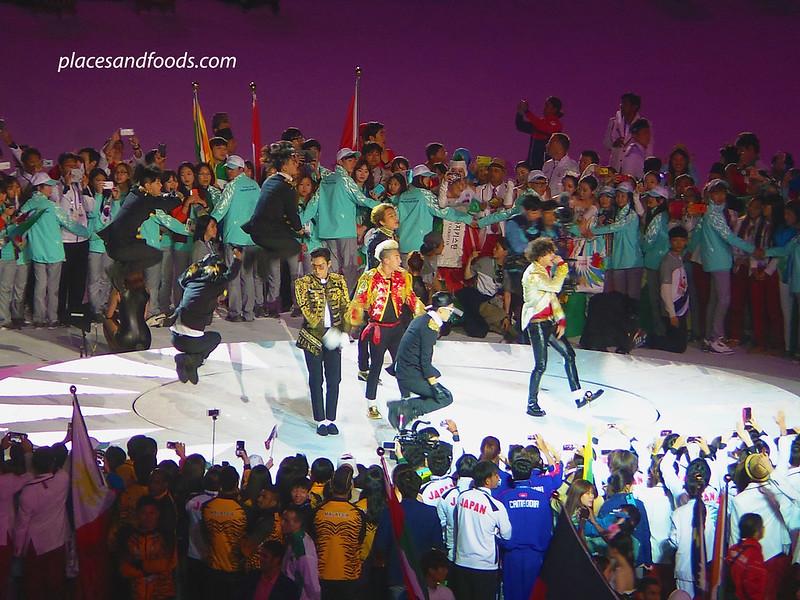 big bang incheon asian games closing