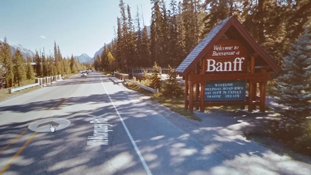 #ridingthroughwalls the long way round so I can see Banff for the first time.