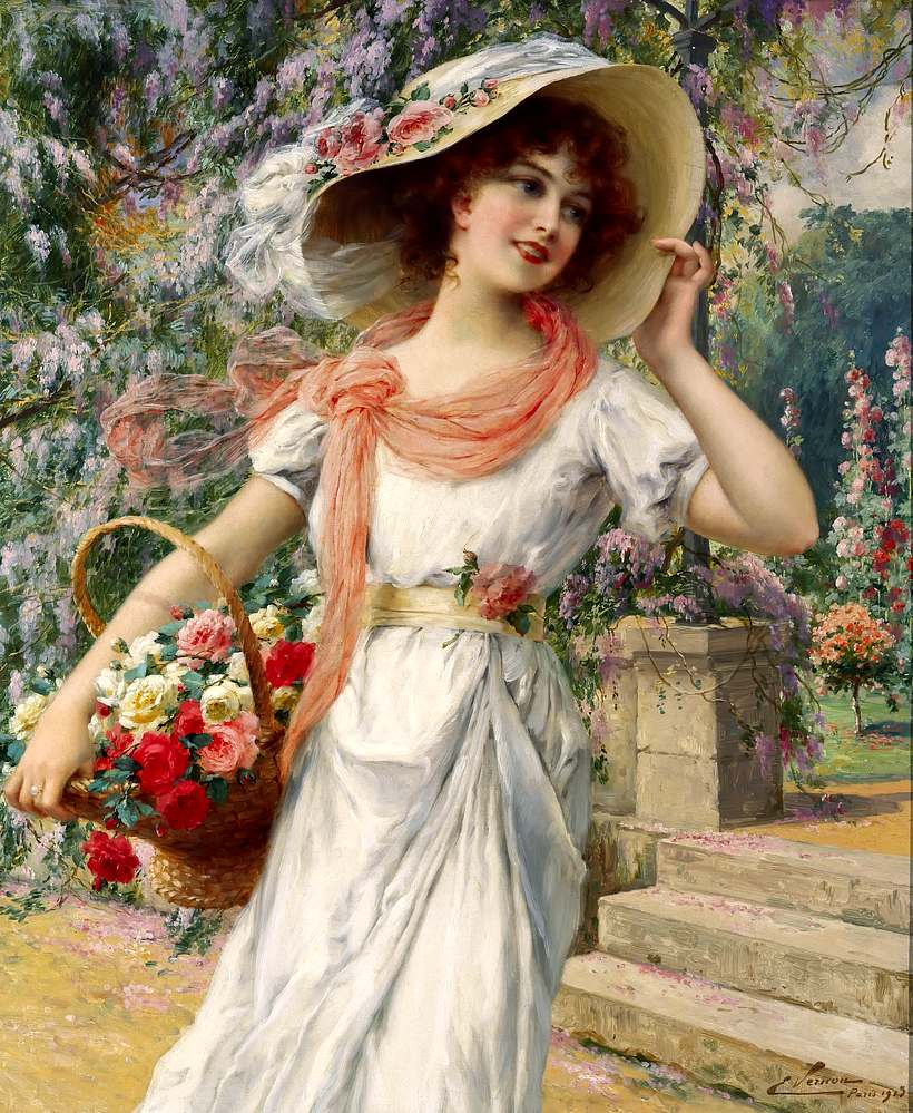 The Flower Garden by Emile Vernon, 1915