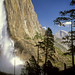 Upper Yosemite Falls and Half Dome, Yosemite National Park CA