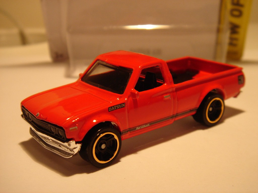 Flickr Photos Tagged Datsun620pickup Picssr Hot Wheels Hotwheels Datsun 620 Red Pick Up No13 1 64