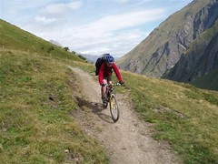 The descent from Grand Col Ferret 2537m into Switzerland Image