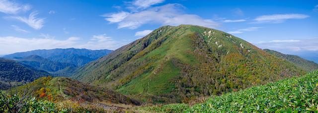 大峠と流石山