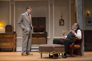 Michael Goldsmith and Will LeBow in Clifford Odets' stirring American classic AWAKE AND SING!, directed by Melia Bensussen, playing November 7 – December 7, 2014 at the BU Theatre / Avenue of the Arts.  Photo: T. Charles Erickson