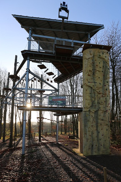 High ropes in Telford park