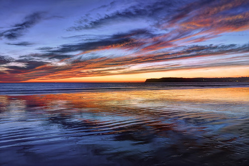 ocean california sunset usa beach water colors beautiful clouds reflections sand nikon colorful sandiego coronado pointloma enchanting mesmerizing 1635mm markwhitt markwhittphotography
