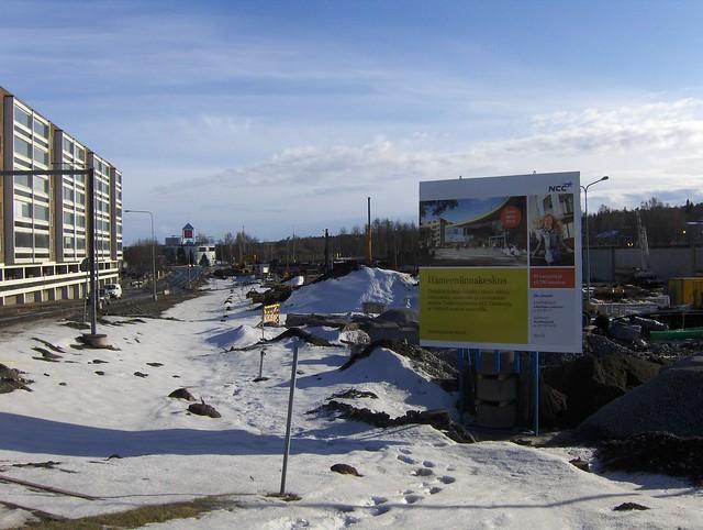 Hämeenlinnan moottoritiekate ja Goodman-kauppakeskus: Työmaatilanne 18.3.2012 - kuva 2