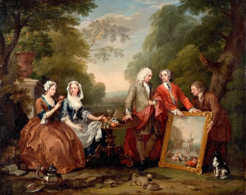 William Hogarth - Conversation Piece (c.1730-35)