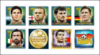 free Top Trumps World Football Stars 2014 slot game symbols