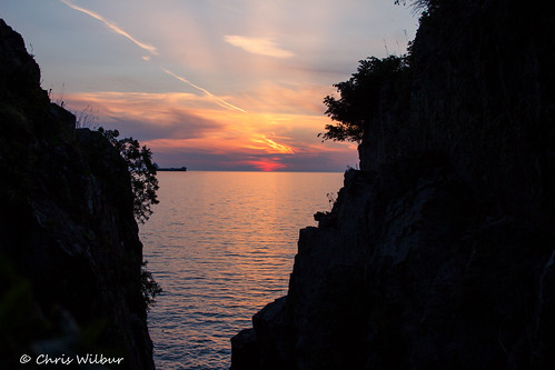 sunset summer lake ontario canada conservation superior canadian cap area shield gros algoma