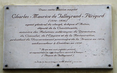 Photo of Charles Maurice de Talleyrand-Périgord marble plaque
