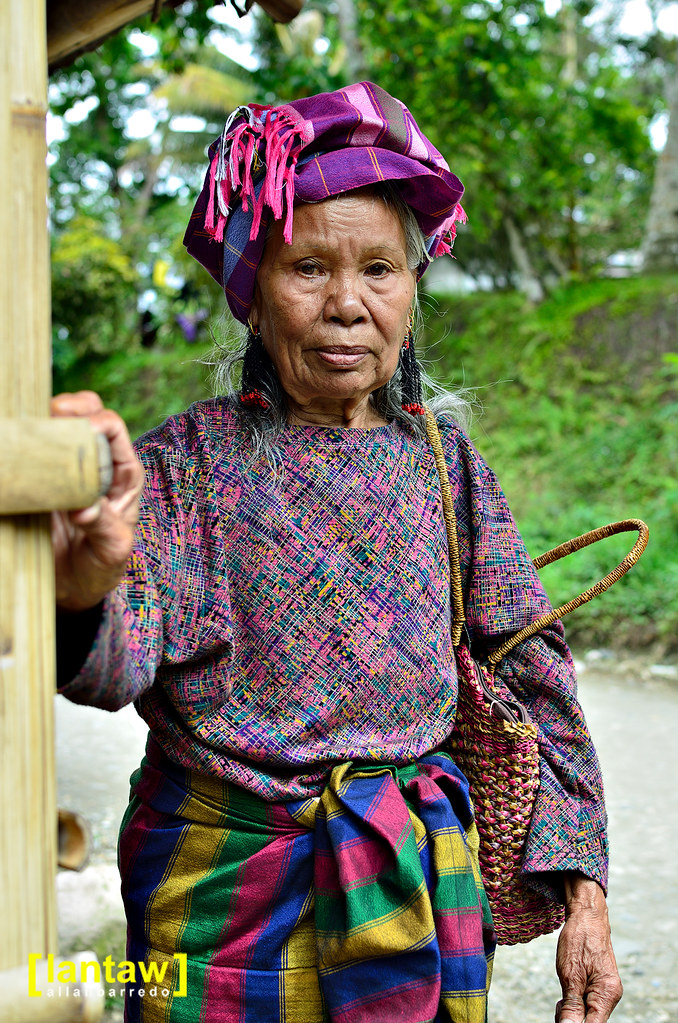 Tboli elder in traditional dress