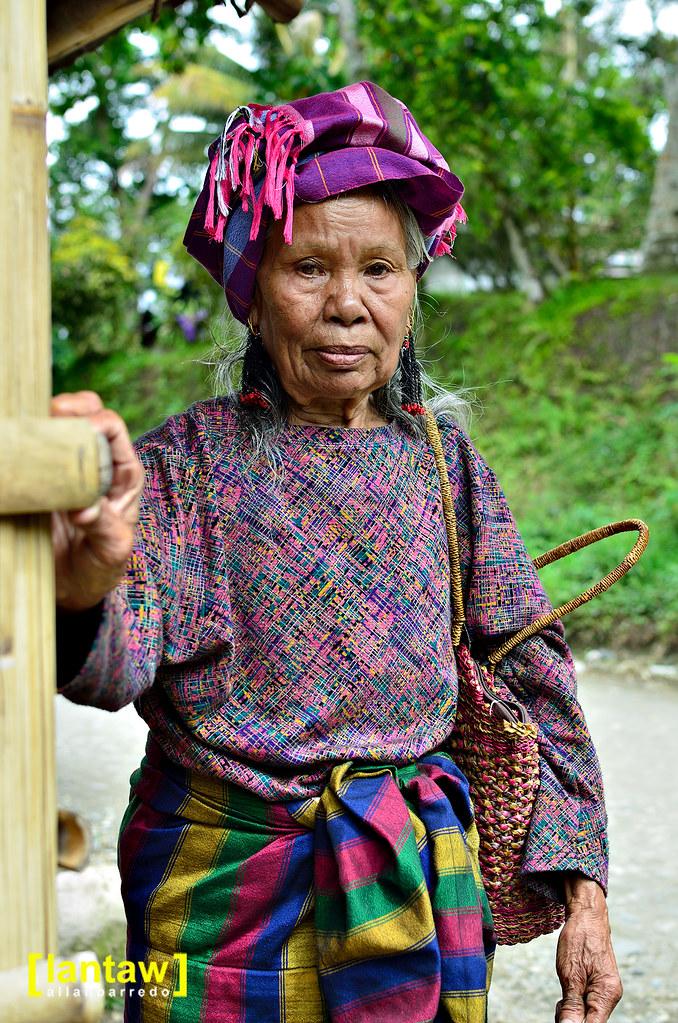 Tboli elder in traditional dress