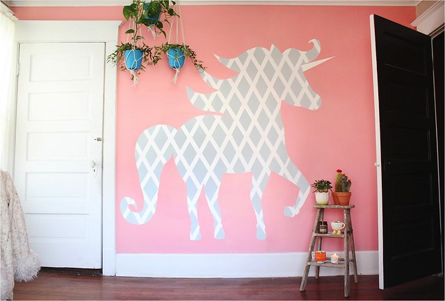 Unique  DIY Geometric Unicorn Wall