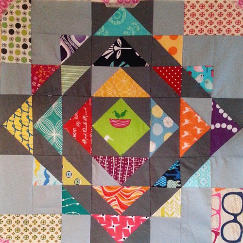 "Hating that moment being finished and someone asking ""is this meant to be like that?"" pointing out a mistake. Fixed and ready for quilting if my Partner likes it. #swappen"