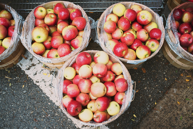 Bushels of apples.