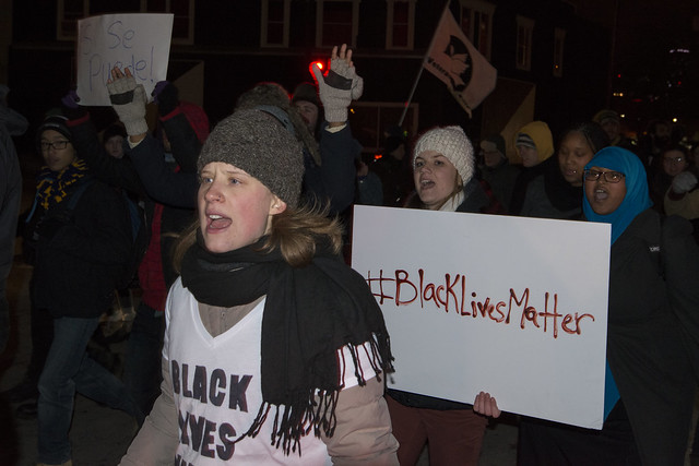 Solidarity march for Michael Brown in response to the Ferguson grand jury decision from Flickr via Wylio