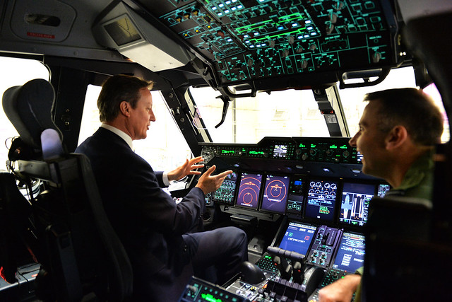 PM visited RAF Brize Norton to see the RAF's newest addition, the A400M Atlas Military Transport Aircraft.