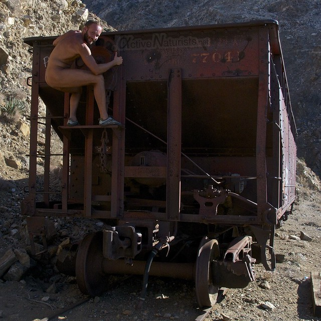 naturist 0020 DeAnza railroad trail, California, USA