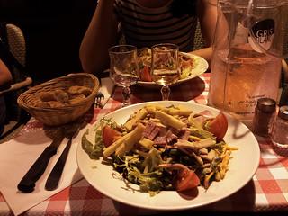 """Salade """"Parisienne"""" pour le dîner avec Virginie ;)"""