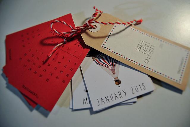 ephemera calendar 2015 RED edition